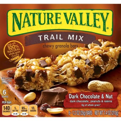 Trail Mix Bar, Chewy, Dark Chocolate & Nut