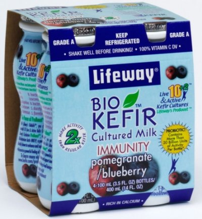 Kefir Bio, Nonfat, Immunity, Pomegranate Blueberry