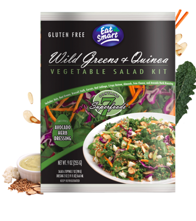 Wild Greens & Quinoa, Vegetable Salad