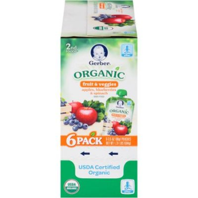 Organic Apples, Blueberries & Spinach Baby Food