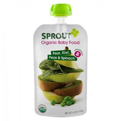 Organic Pear Spinach Baby Food