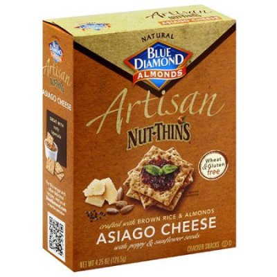 Artisan Nut-Thins Crackers, Asiago Cheese