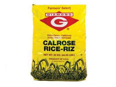 Rice, Calrose, White Medium Grain