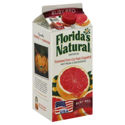 100% Pure Florida Ruby Red Grapefruit Juice