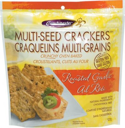 Crackers, Multi-Seed, Roasted Garlic