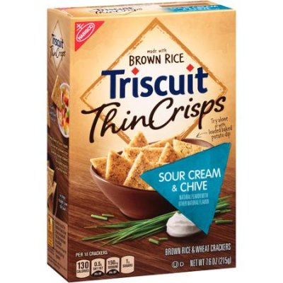 Thin Crisps, Sour Cream & Chive, Crackers