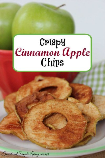 Crunchy Cinnamon Apple Chips
