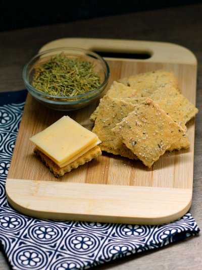 Rosemary And Sea Salt, Almond Flour Crackers