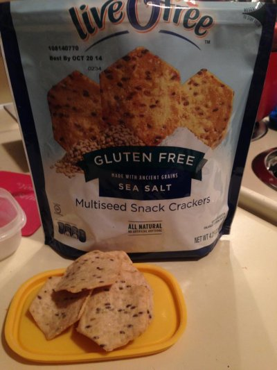 Multiseed Snack Crackers, Sea Salt