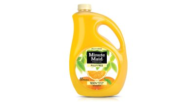 Orange Juice, 100% from Concentrate Pulp Free