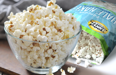 Popcorn, Half Naked, with a Hint of Olive Oil