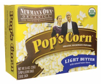 Organic, Pop's Corn, Microwave Popcorn, Light Butter With Natural Butter Flavor
