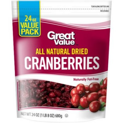 Dried Cranberries, All Natural