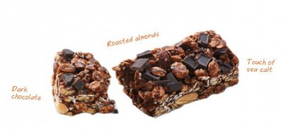 Chocolate Almond & Sea Salt With Chia, Chewy Granola Bars