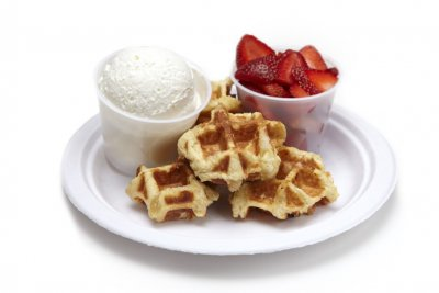 Build Your Own Waffle, Fresh Strawberries