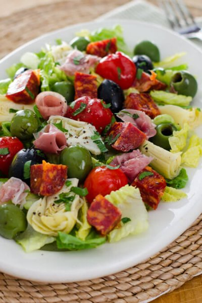 Antipasto Salad without Dressing, Medium (3 Servings)