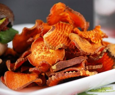 Sweet Potato Chips, Kettle Cooked, with Sea Salt