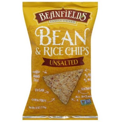 Beanfields Unsalted Bean and Rice Chips