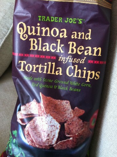 Tortilla Chips, Quinoa And Black Bean Infused