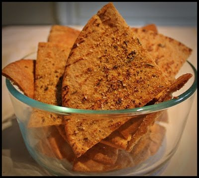 Whole Wheat Pita Chips With Garden Herbs
