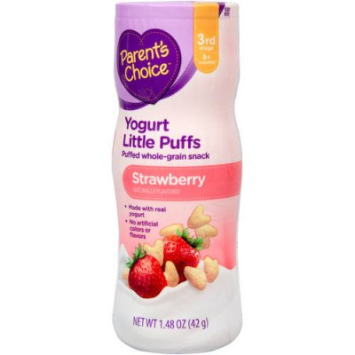 Little Puffs, Puffed Whole Grain Snack, Strawberry Apple