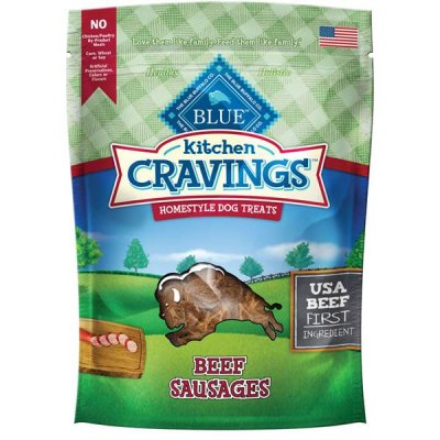 Kitchen Cravings, Homestyle Dog Treats, Beef Sausage