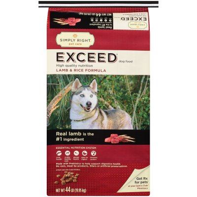 Exceed Dog Food, Lamb And Rice Recipe