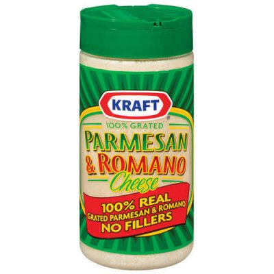 100% Grated Cheese, Parmesan & Romano