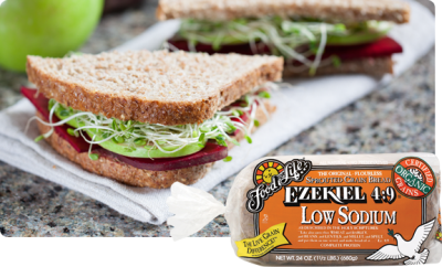 Bread, Sprouted Grain, Low Sodium