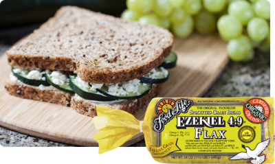 Ezekiel Sprouted Whole Grain Bread, Flax