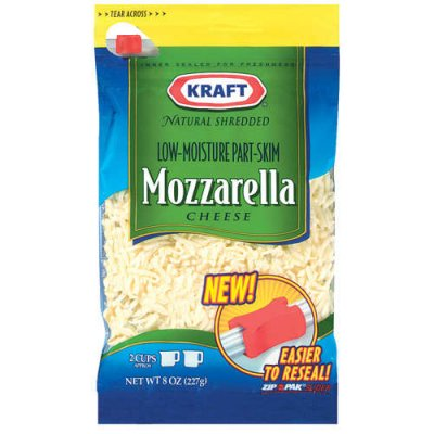 Shredded Mozzarella Natural Cheese