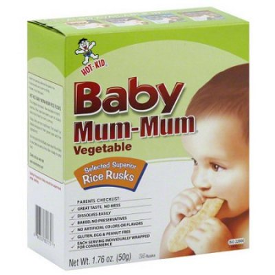 Baby Mum-Mum Vegetable, Selected Superior Rice Rusks