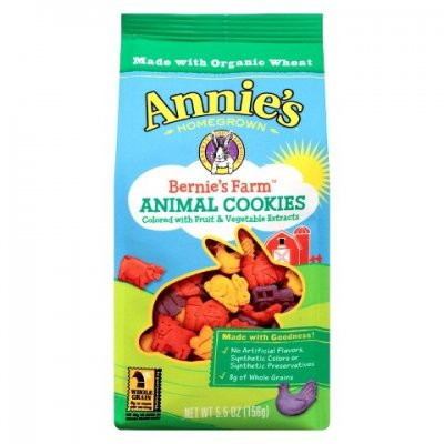 Bernie's Farm, Animal Cookies, Colored With Fruit & Vegetable Extracts