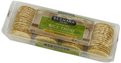 Sesame Rice Crackers (Savory Thins)