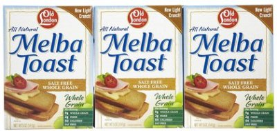 Melba Toast, Whole Grain