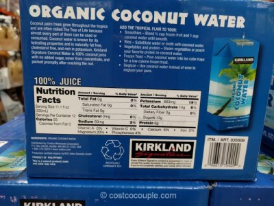 100% Organic Coconut Water