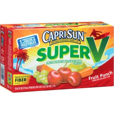 Fruit & Vegetable Juice Drink, Super V Berry 6 Oz