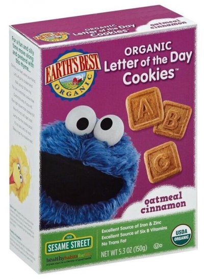 Cookies, Letter Of The Day, Sesame Street, Oatmeal Cinnamon