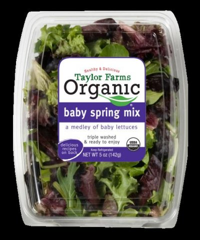 Organic Baby Spinach And Spring Mix