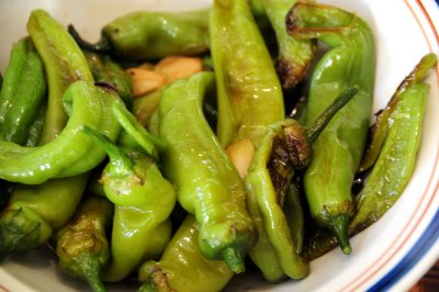 Peppers, sweet, green, sauteed