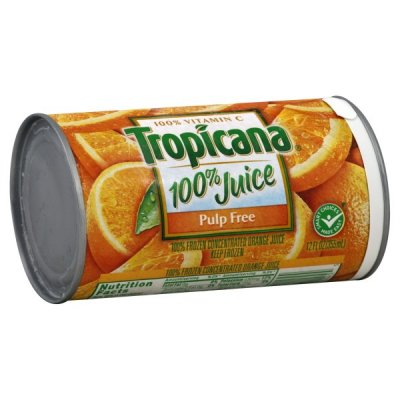 100% Juice, Orange, Frozen Concentrated