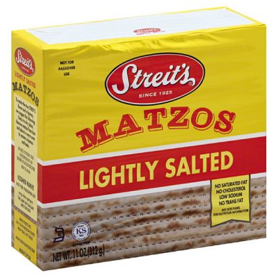Matzos, Lightly Salted