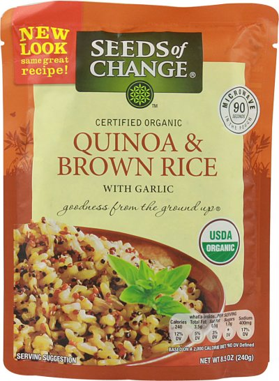 Quinoa & Brown Rice With Garlic