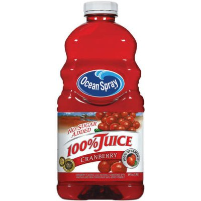 100% Juice, Cranberry (not from concentrate)