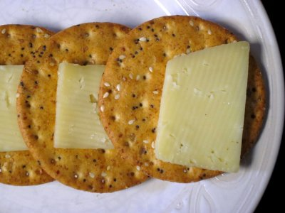 Gluten Free Cheddar Cheese, Baked Crackers