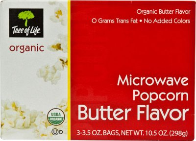 Microwave Popcorn, Organic Butter Flavor
