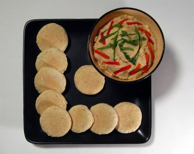 Table Water Crackers, Baked With Toasted Sesame Seeds
