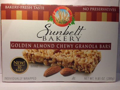 Golden Almond Chewy Granola Bars