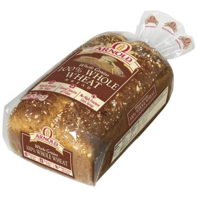 WHOLE GRAINS BREAD 100% WHOLE WHEAT 24 OZ