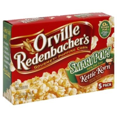 Microwave Popcorn, Kettle Korn, Smart Pop, 94% Fat Free